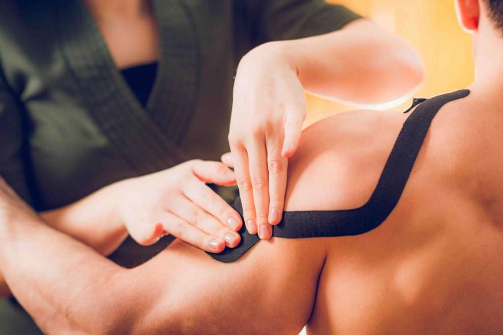 My Chiro, Dr. Aaron and Associates - Kinesio taping for shoulder pain